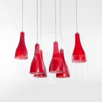 Светильник потолочный Модерн 602/6A red