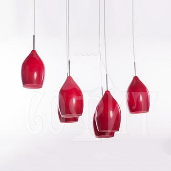 Светильник потолочный Модерн 630/6A красный