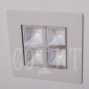Светильники точечные Встраевамые BS868/4W (WW)